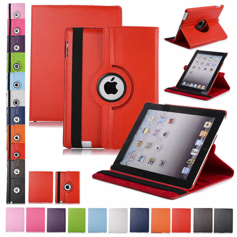 $6.75 • Buy 360 Rotating Leather Folio Case Cover Stand For Apple IPad 234 Mini Air Pro 10.5