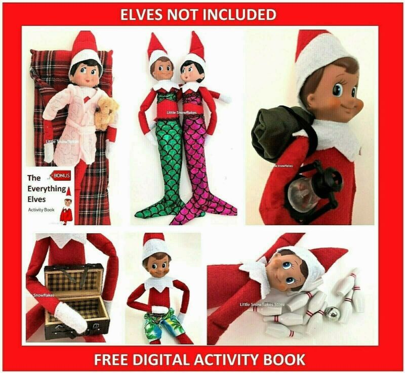 AU12.45 • Buy Elf Props & Accessories For On The Shelf Doll Display (FREE ACTIVITY PACK)