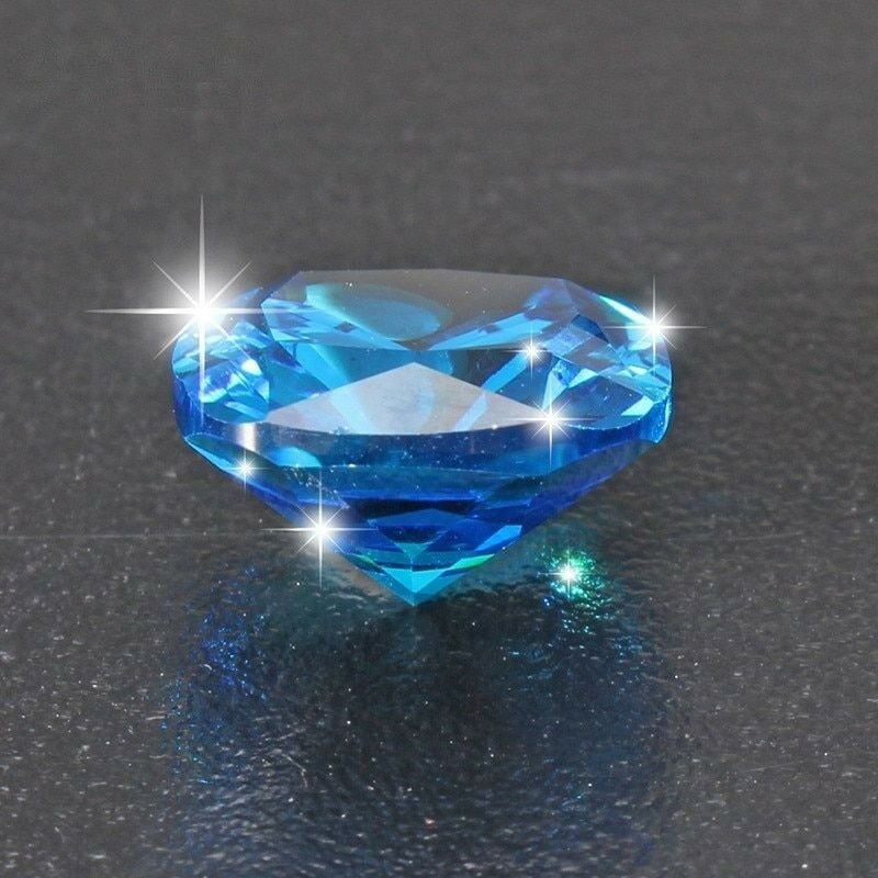 Ceylon Blue Sapphire Unheated 8.71 Carats Zircon Cushion Shape 10x10mm Gemstone • 5.01$
