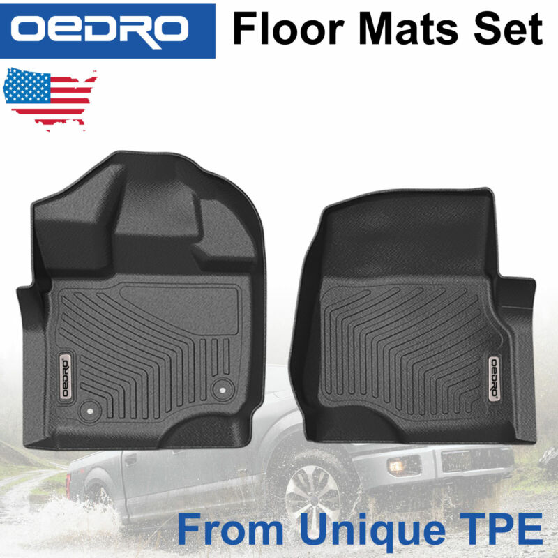 All-Weather Front Floor Mats For 15-20 Ford F-150 F150 SuperCrew Cab TPE Liners • 54.99$