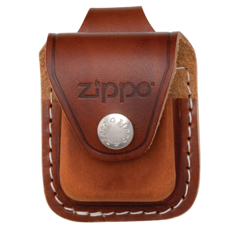 Zippo Lighter Pouch Brown With Loop LPLB Free Shipping On Belt Pocket New • 9.99$