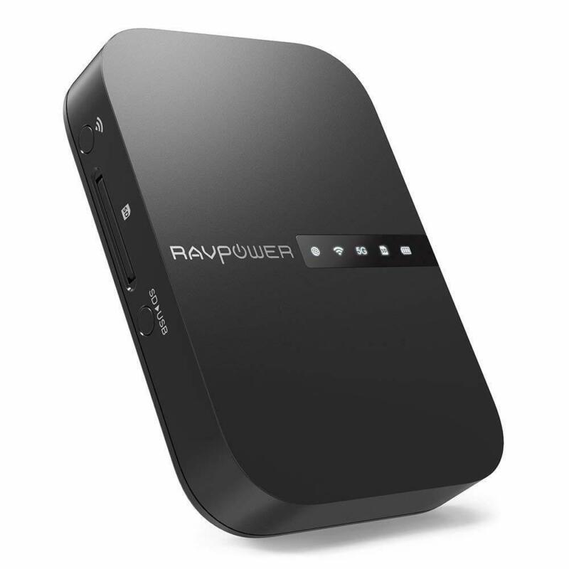 AU91.07 • Buy RAVPower FileHub Wireless Travel Router AC750 Portable SD Card HDD Backup