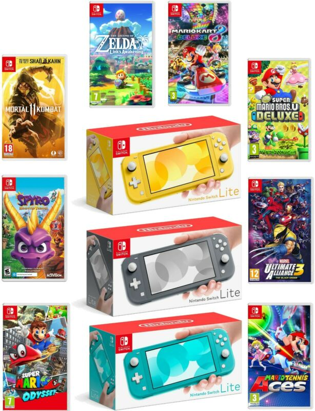 $259.95 • Buy Nintendo Switch Lite 32GB Handheld Video Game Console With Choice Of Game Bundle