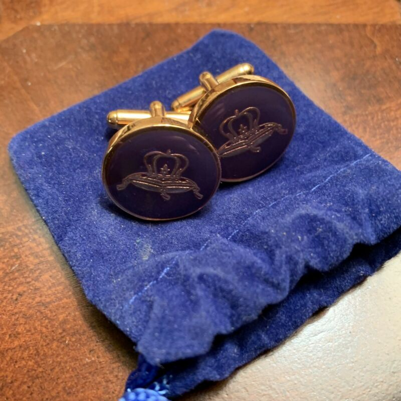 Crown Royal Whiskey Cuff Links Pillow Logo Cuff Links • 25$