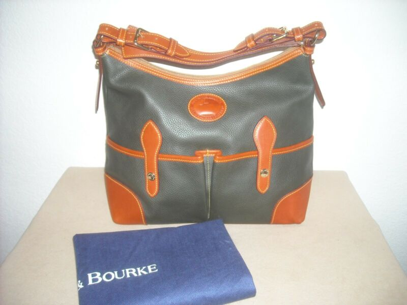 $150 • Buy Dooney & Bourke Large LUCY ~DARK GREEN~ AWL Pebble Leather Hobo Bag - EXCELLENT