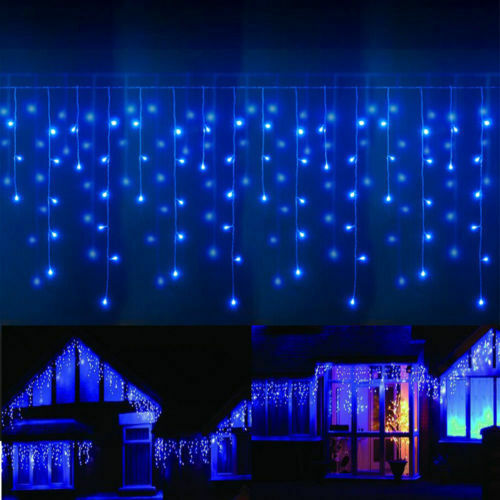 13-130FT LED Fairy Icicle Curtain Lights Party Indoor Outdoor Xmas Decor Garden • 10.44$