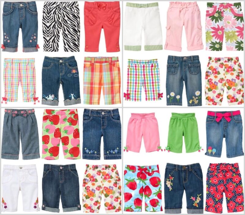 $9.99 • Buy NWT GYMBOREE Baby Girl Kids Girl Jeans Pants Capri Leggings Ship Fast