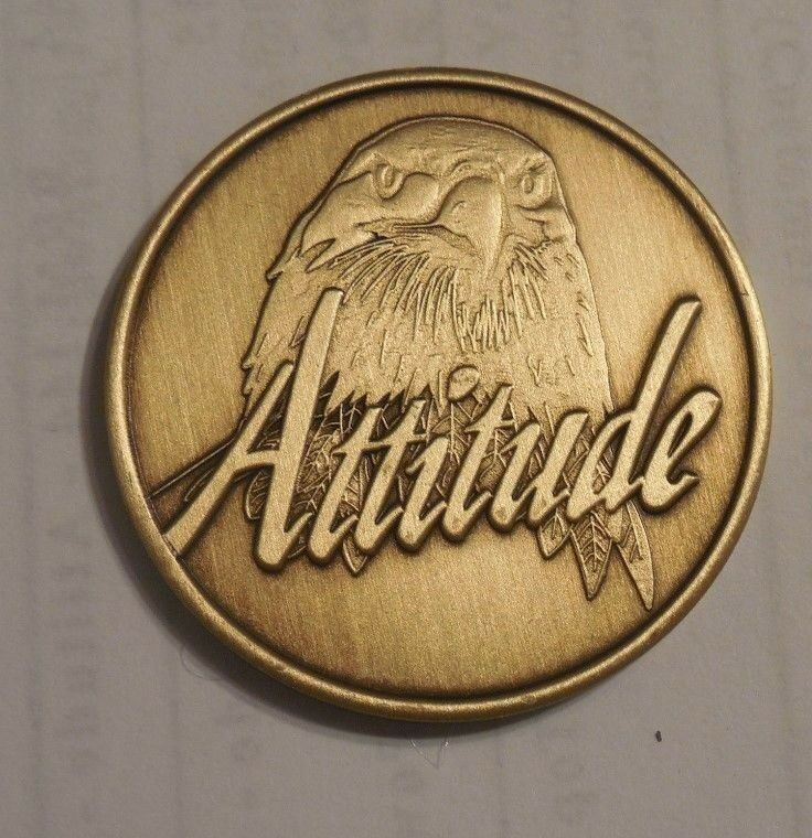 $4 • Buy AA ALCOHOLICS ANONYMOUS ATTITUDE EVERY DAY MATTERS Chip Coin Token Medallion NEW