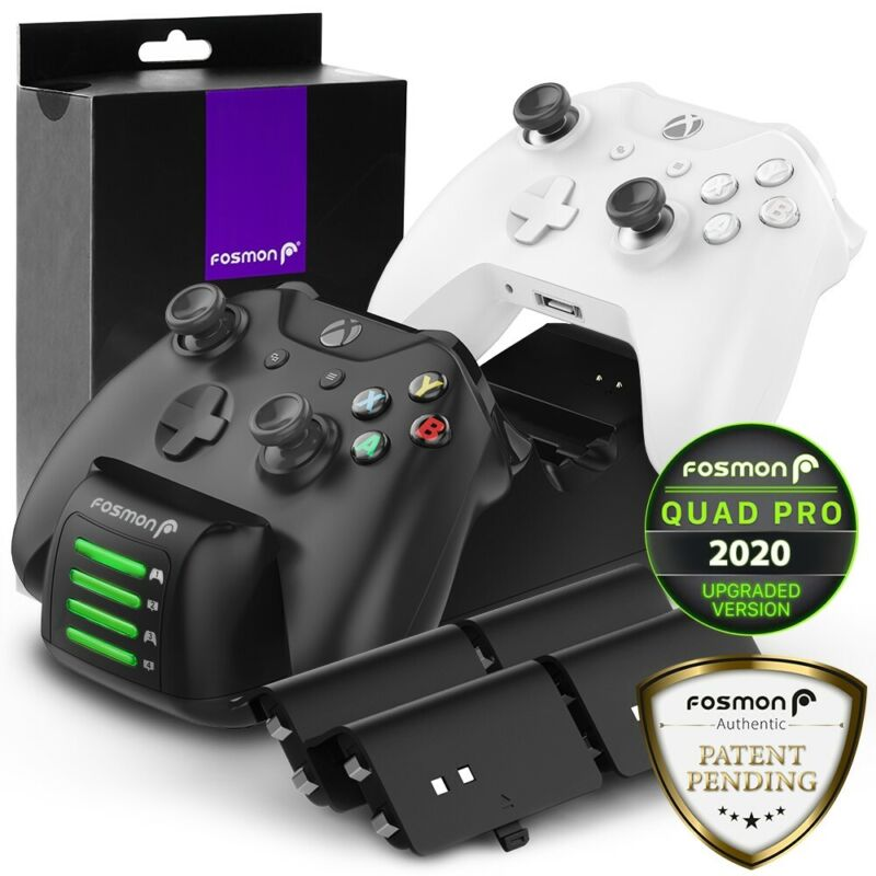 Dual Controller Quick Charge Dock Station Stand Battery Pack For Xbox One S X • 24.99$