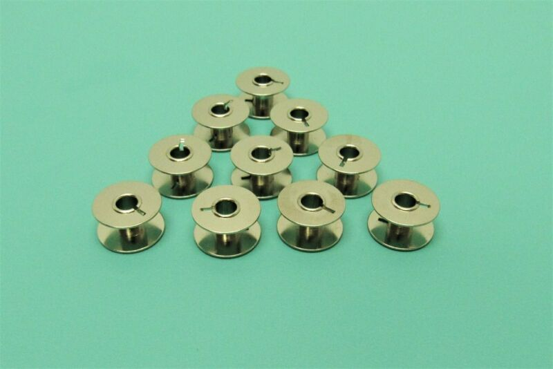 10 Necchi Sewing Machine Bobbins Fits 510, 512, 513, 515, BF, BU, SuperNova  • 12.95$