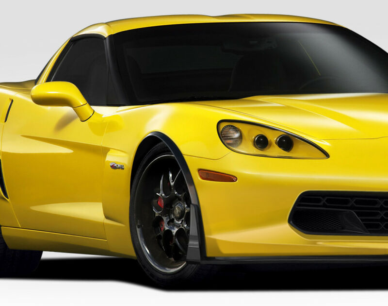 $278 • Buy Duraflex Stingray Z Front Fender Flares 2PC For 2005-2013 Chevrolet Corvette C6