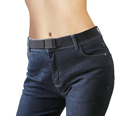 $6.99 • Buy Invisible Waist Belt For Woman Adjustable Elastic Stretch No Bulge Buckle Black