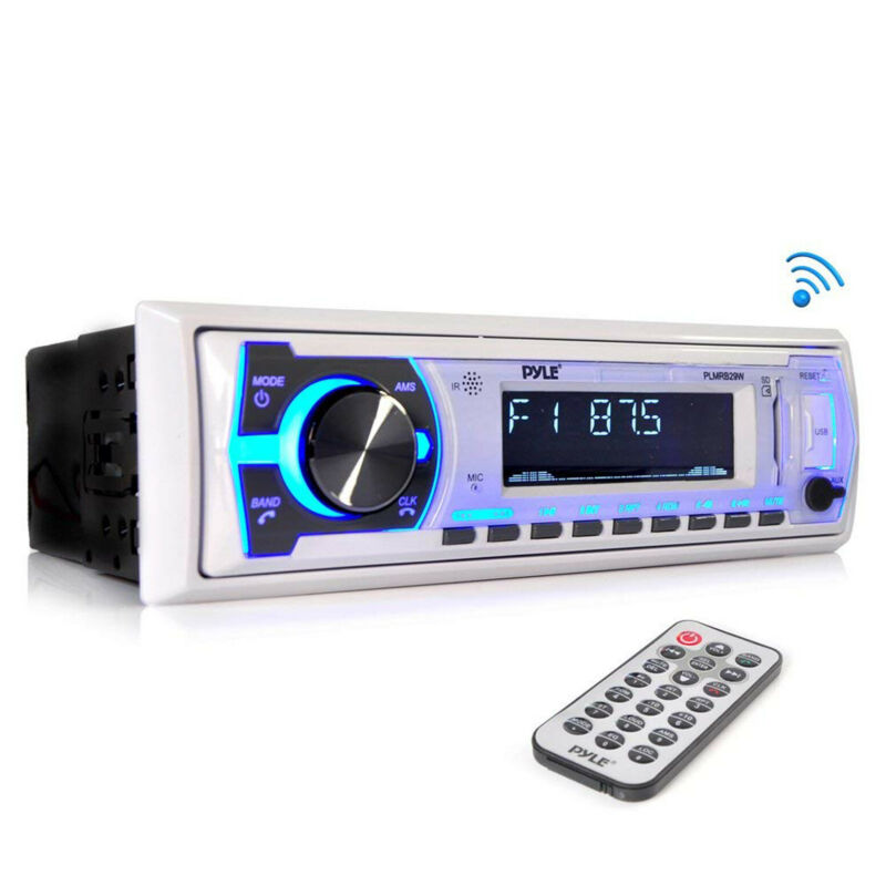 $44.30 • Buy Bluetooth Stereo Radio Boat Marine Receiver AM FM System Wireless USB SD MP3 LCD