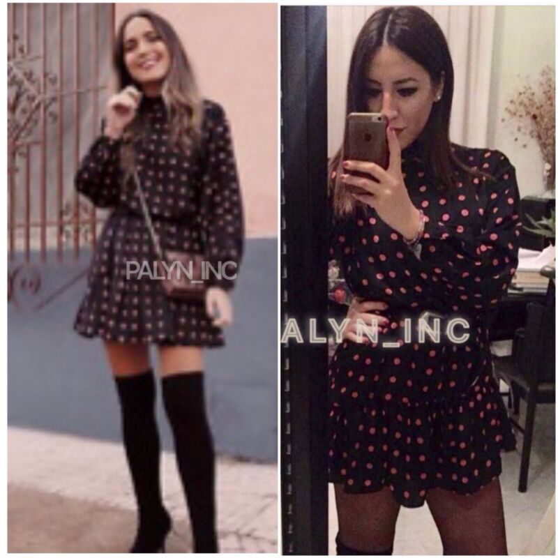 Rare_nwt Zara Aw18 Flowing Polka Dot Dress Jumpsuit With Ruffle_xs S M L Xl • 39.99$