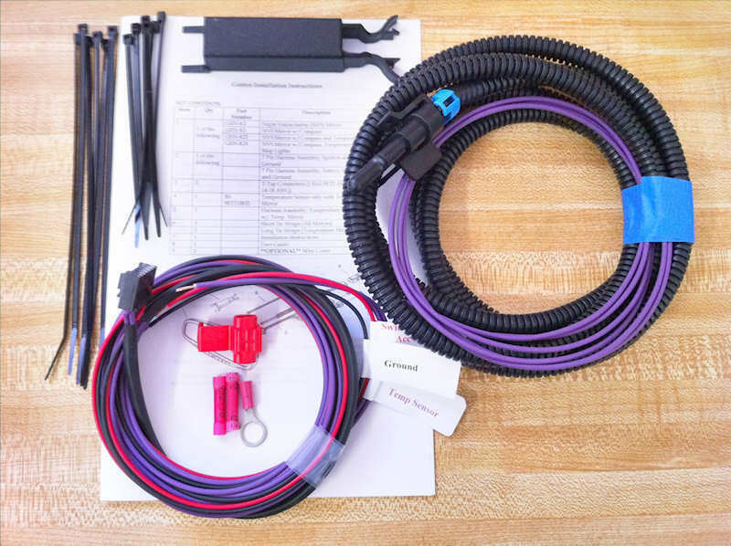 NEW Gentex 177/455 Or 7 Pin Donnelly Autodim Compass Temp Mirror Harness Kit • 49.95$