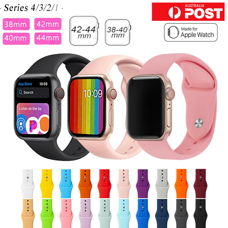 AU4.65 • Buy Apple Watch IWatch Series 1 2 3 4 5 Silicone Replacement Strap Band 38 40 42 44m