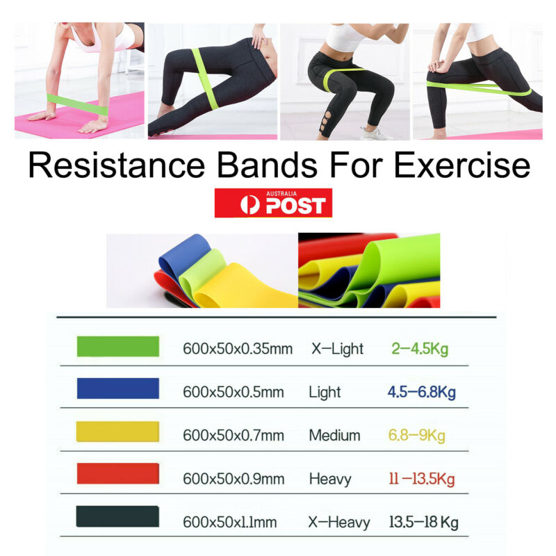 AU4.99 • Buy Professional Resistance Bands For GYM Fitness Strength Yoga Exercise