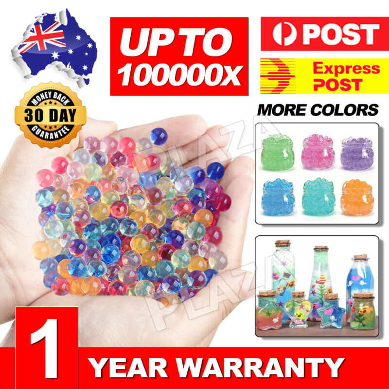 AU4.95 • Buy 100000 Orbeez Crystal Soil Water Balls Jelly Gel Beads For Vase Home Wedding