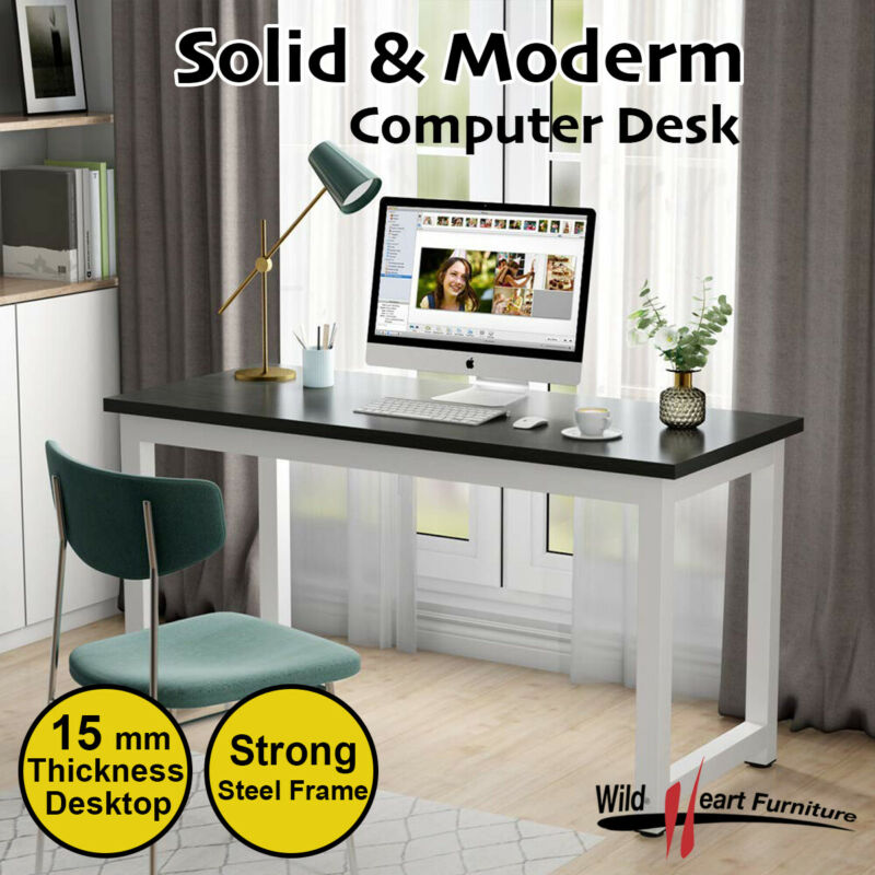 AU94.45 • Buy Computer Desk Study Office Storage B&W PC Laptop Table Student Home Writing Tabl