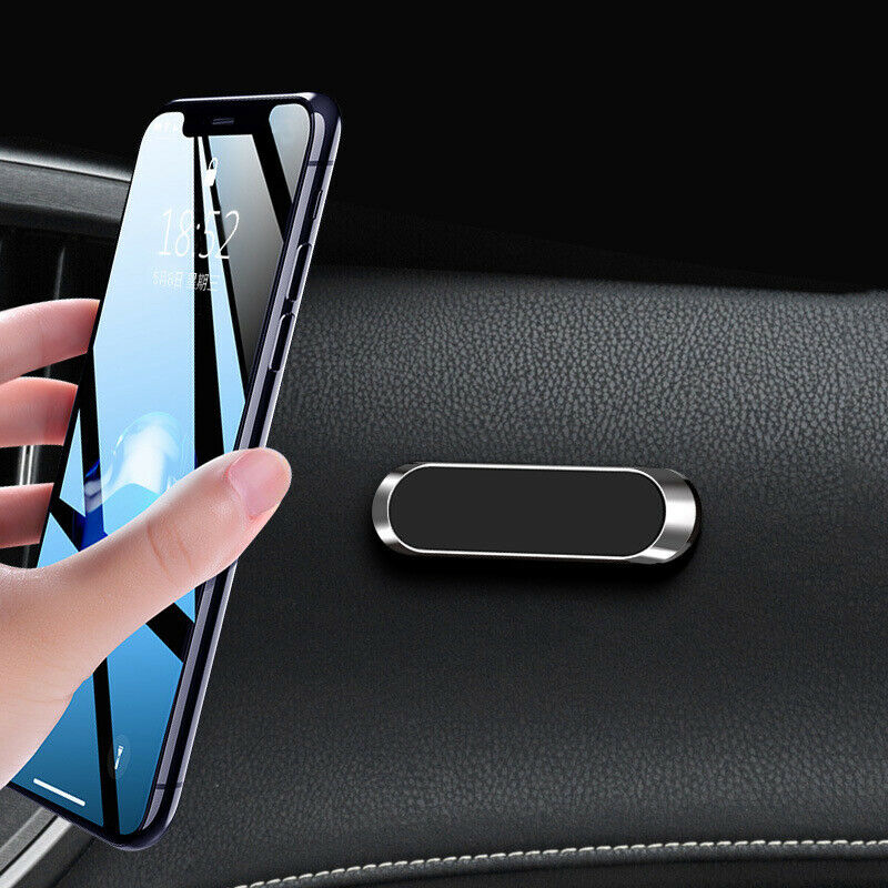 $ CDN3.68 • Buy Strip Shape Magnetic Car Phone Holder Stand For IPhone Magnet Mount Parts Silver