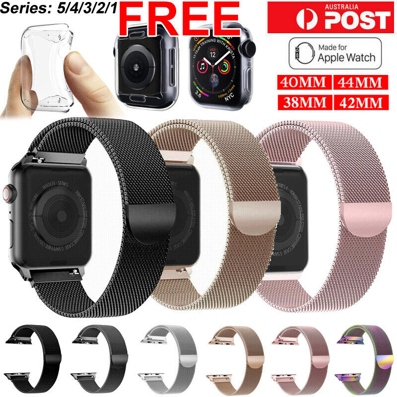 AU8.99 • Buy Band For Apple Watch Series 5 4 3 21 Milanese Magnetic Stainless Loop Iwatch SYD