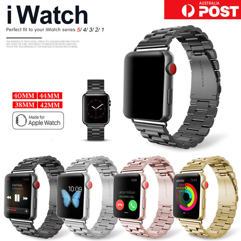 AU12.49 • Buy For Apple Watch IWatch Series 5 4 3 2 1 Stainless Steel Watch Band 38/42/40/44mm