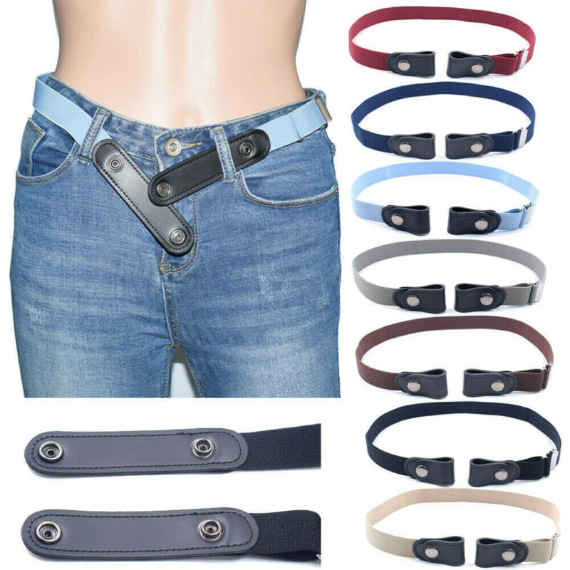 $0.99 • Buy Buckle-free Adult/Children Invisible Elastic Belt For Jeans No Bulge Hassle NEW