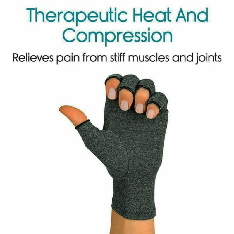 US Anti-Arthritis Compression Gloves Hand Support Carpal Tunnel Computer Typing • 7.65$