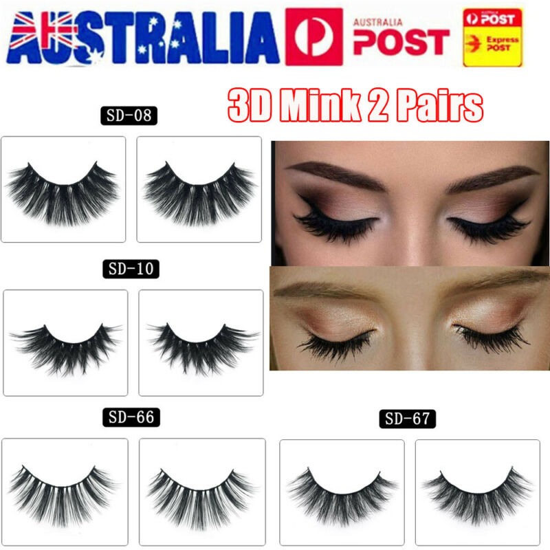 AU1 • Buy 3D Mink Natural Long Thick False Fake Eyelashes Eye Lashes Makeup Extension AU