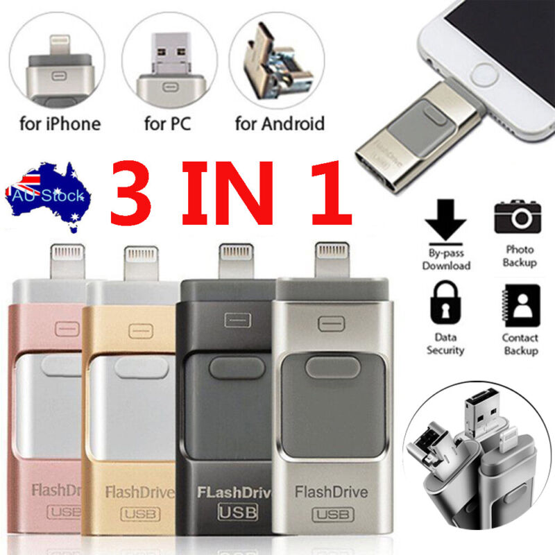 AU14.79 • Buy 256GB USB I Flash Drive Disk Storage Memory Stick For IPhone IPad PC IOS Android