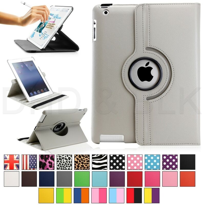 $6.99 • Buy For Apple IPad 2/3/4 360 Rotating Magnetic PU Leather Case Smart Cover Stand
