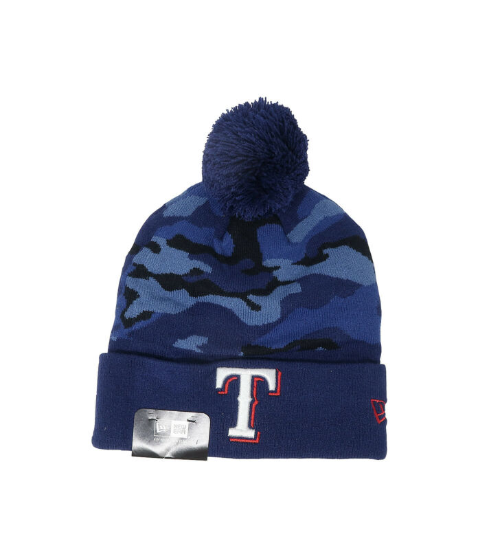 official photos 6f4f3 08171 NEW ERA Texas Rangers MLB Royal Blue Navy Red Beanie Hat Unisex Camouflage  Knit • 12.00