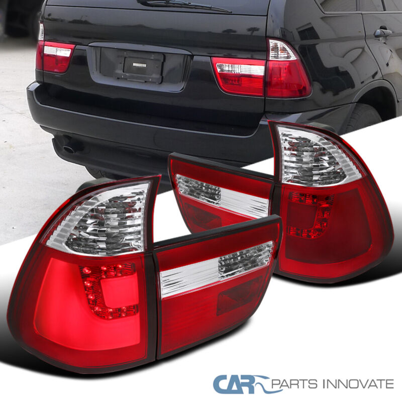 $179.95 • Buy 00-06 BMW E53 X5 Red/Clear LED Rear Brake Lamps Parking Tail Lights Left+Right