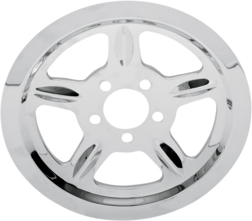 Drag Specialties Chrome Rear Pulley Cover Insert 04-19 Harley Davidson Sportster • 64.95$