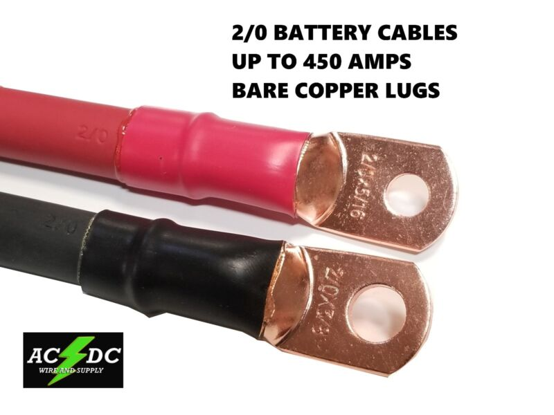 2/0 AWG 00 Gauge Copper Battery Cable Power Wire AUTO, Inverter, RV, Solar • 11.99$