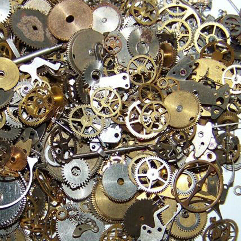 $ CDN1.30 • Buy 10g Lot Vintage Steampunk Watch Parts Pieces Gears Hands Rubies Cogs Wheels DIY