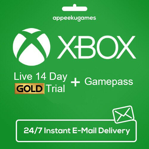$3.95 • Buy XBOX LIVE 14 Day GOLD + Game Pass (Ultimate) Trial Code INSTANT DISPATCH