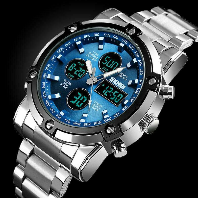 AU22.99 • Buy Multifunctional Waterproof Watch Analog&Digital LED Military Men's Sport Watches
