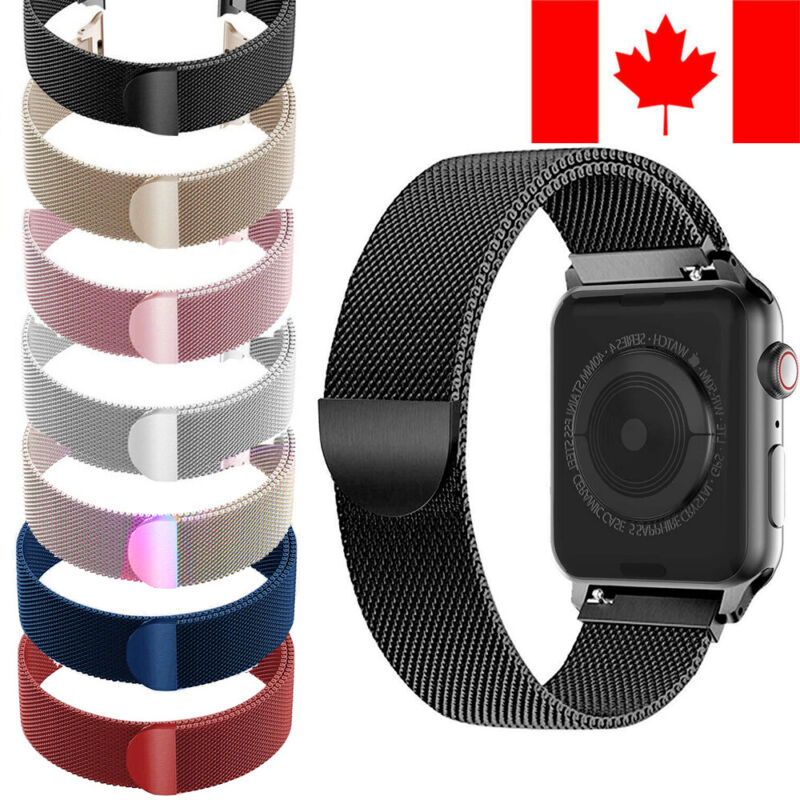 $ CDN8.34 • Buy MILANESE LOOP BAND WITH MAGNETIC FOR APPLE WATCH IWatch SERIES 1 / 2 / 3 / 4 / 5