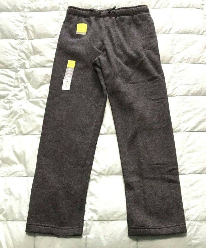 $14 • Buy NWT TEK GEAR Boys Ultra Soft Fleece Pants M (10-12) Dark Gray