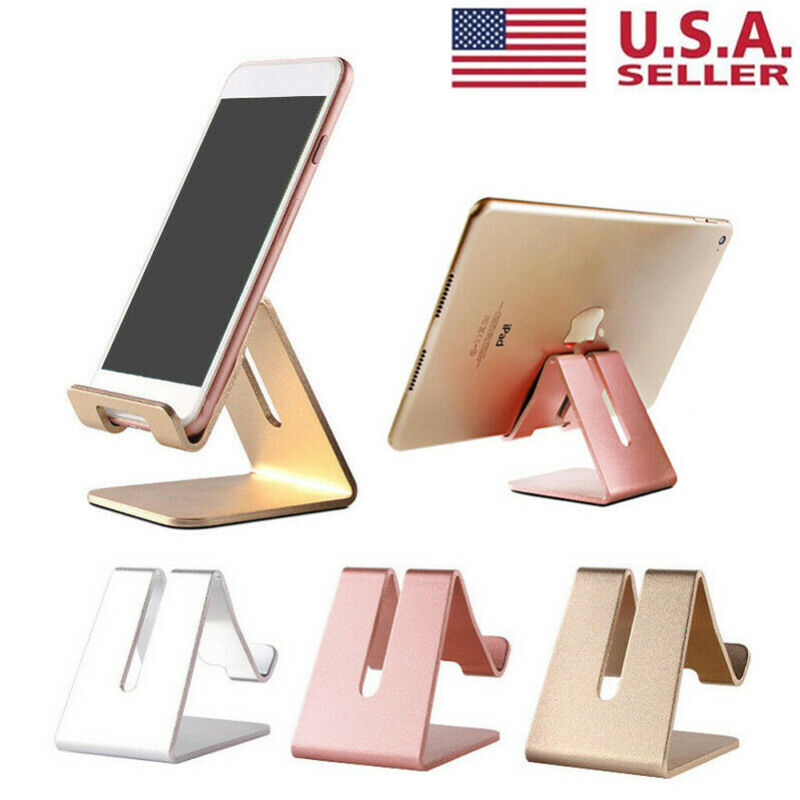 $4.95 • Buy Universal Cell Phone Tablet Desktop Stand Desk Holder Mount Cradle Aluminium US