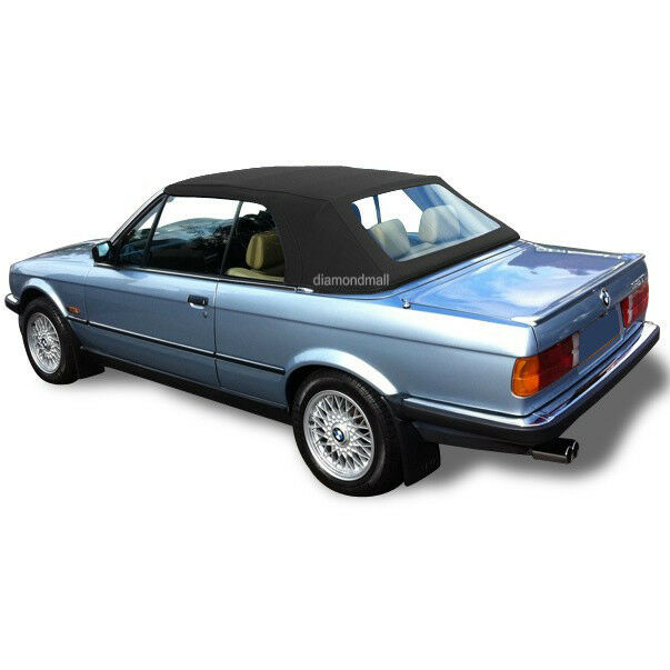 $349 • Buy BMW E30 Convertible Soft Top & Plastic Window 3 Series 1986-1993 Black Stayfast