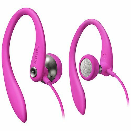 $7 • Buy Philips SHS3200PK/37 Flexible Earhook Headphones, Pink
