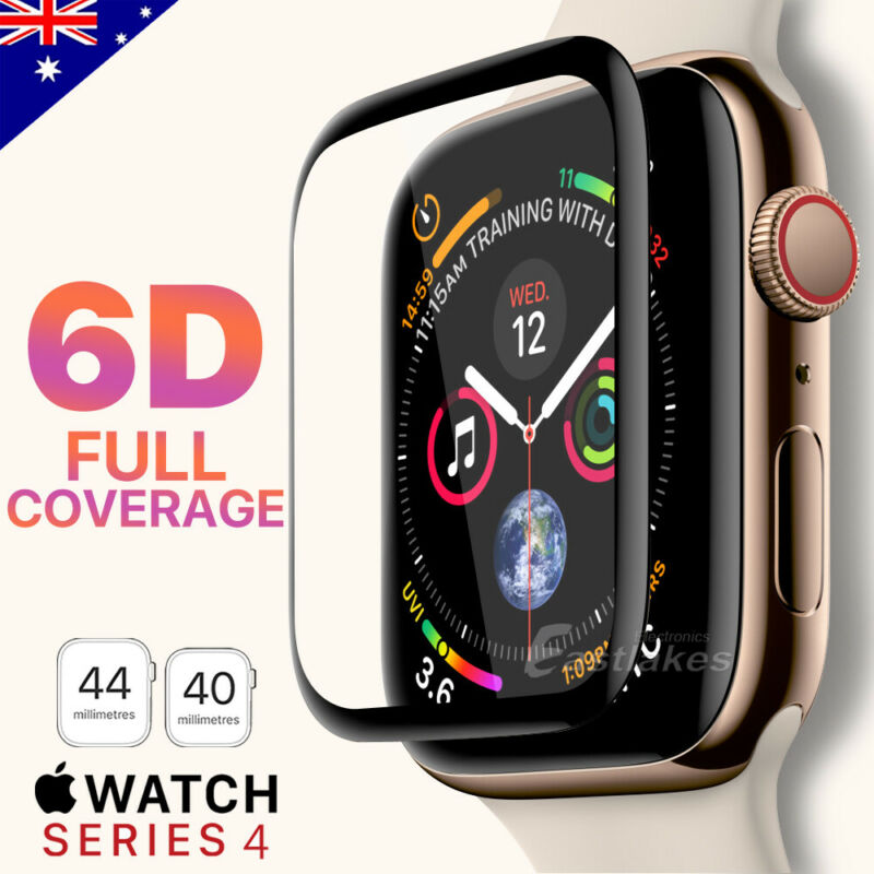 AU6.39 • Buy For Apple Watch 5 4 44 &40 Mm 6D Tempered Glass FULL COVER Screen Protector