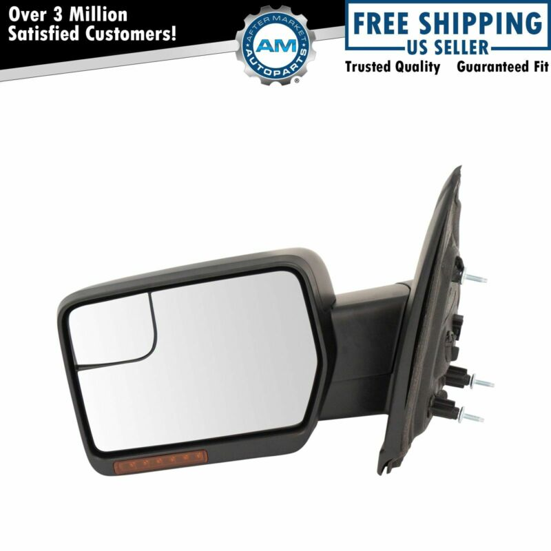 $157.84 • Buy Mirror Power Fold Heat Signal Memory Puddle Smooth Black Driver Left LH For F150