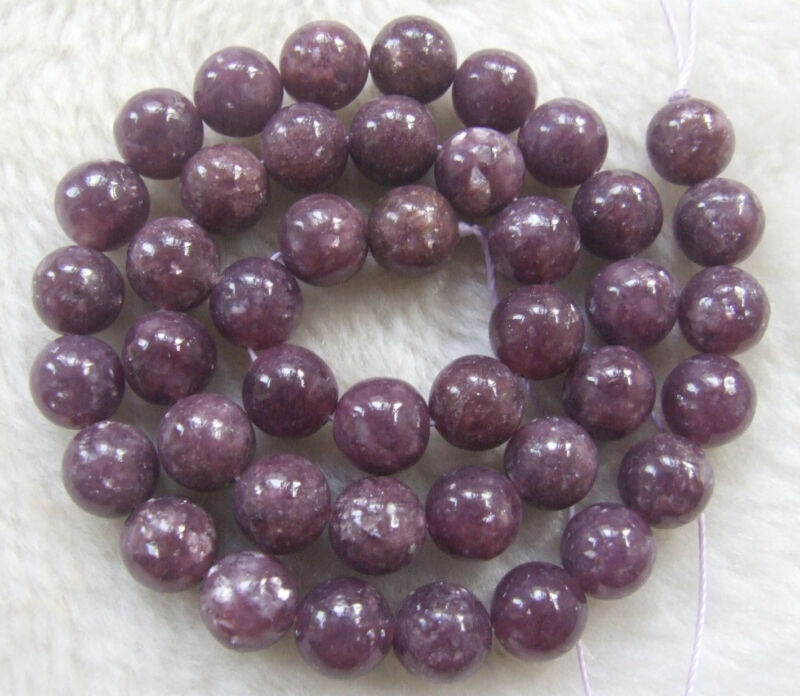 4mm-14mm Natural Purple Lepidolite Round Loose Beads 16inch • 8.43$