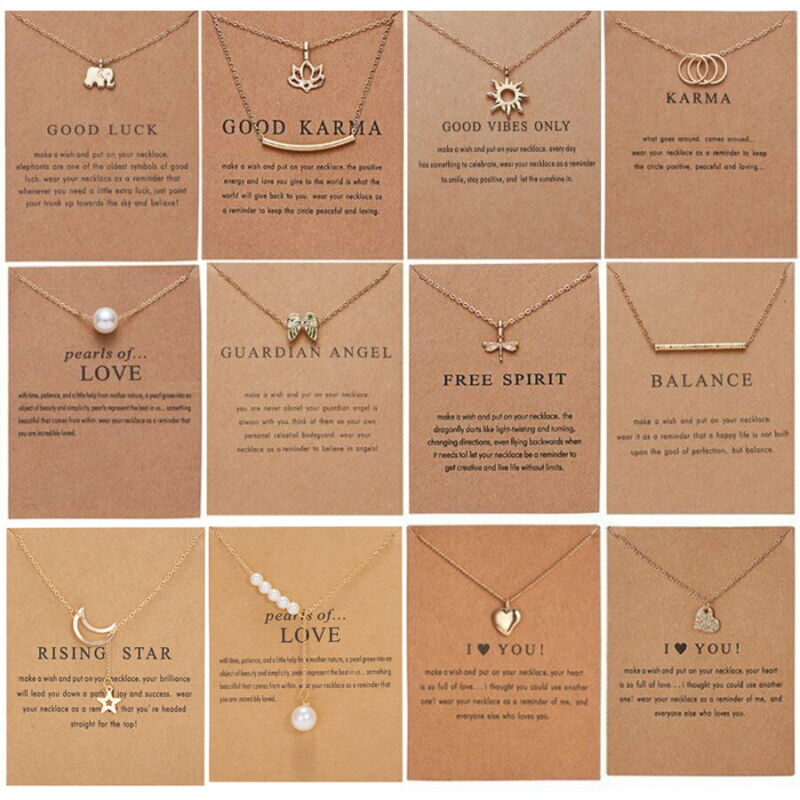 $0.76 • Buy Fashion Women Animal Heart Necklace Charms Pendant Clavicle Chain Jewelry Card