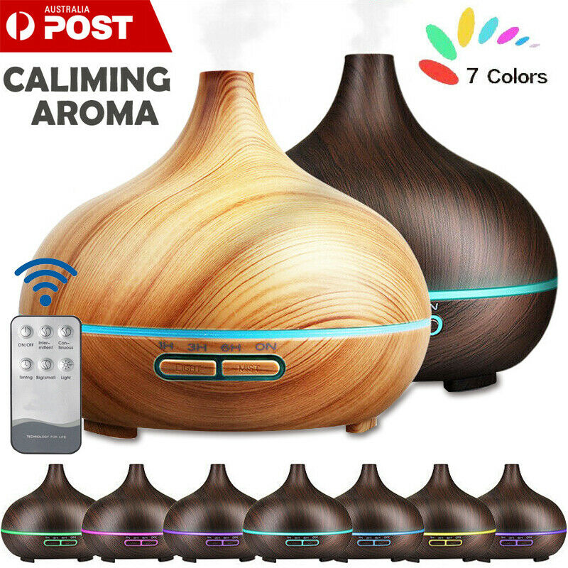 AU13.29 • Buy LED 550ml Air Humidifier Purifier Essential Oil Aroma Diffuser Aromatherapy Lamp