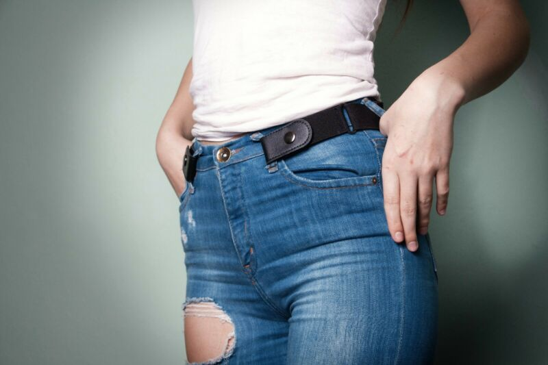 $9.99 • Buy Buckle Free Elastic Unisex Invisible Belt For Jeans No Bulge Hassle Comfortable