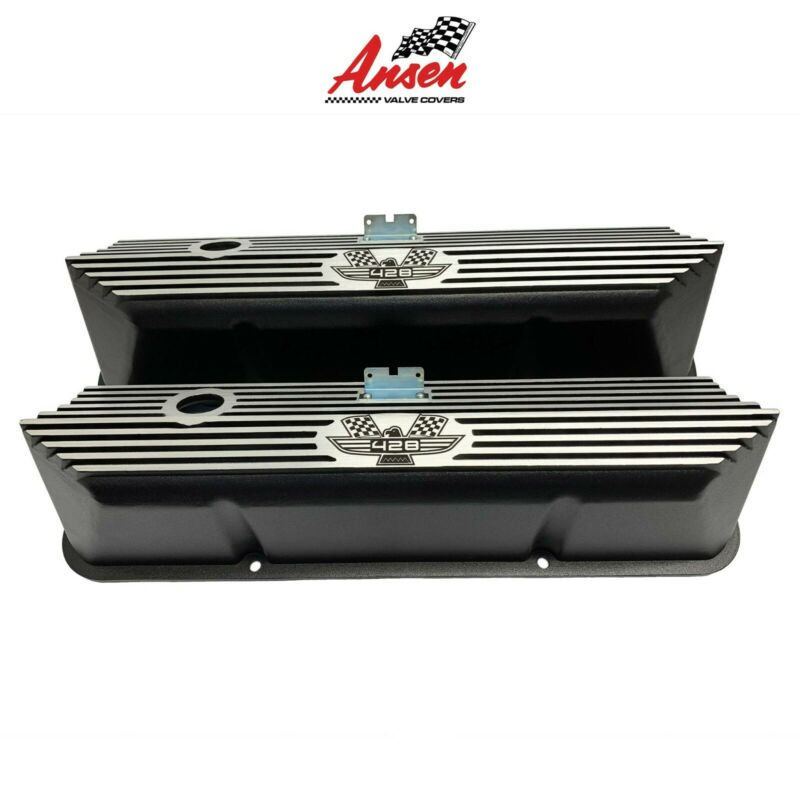 Ansen Ford FE 428 American Eagle Tall Laser Engraved Aluminum Black Valve Covers • 175$